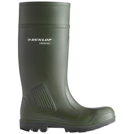 Dickies Safety Wellington Boot Size 4-12 Black Steel Toe