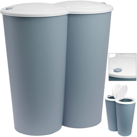 Duo-Bin Dustbin Double Compartment Recycling Waste Separation 2 x 25 Liter 50 L Colour Choice