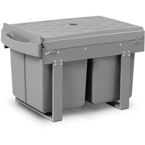 Duo Mülleimer einbaubar Einbau Abfalleimer Einbaumülleimer Küche 2 x 15 L