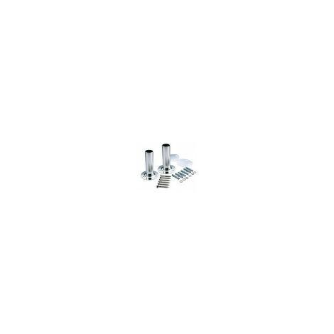Duo-Pack Anclaje Pletina Astralpool para escaleras de piscinas. D.43mm. Incluye juntas de goma, tacos y tornillos de sujección a suelo. Ref 07331