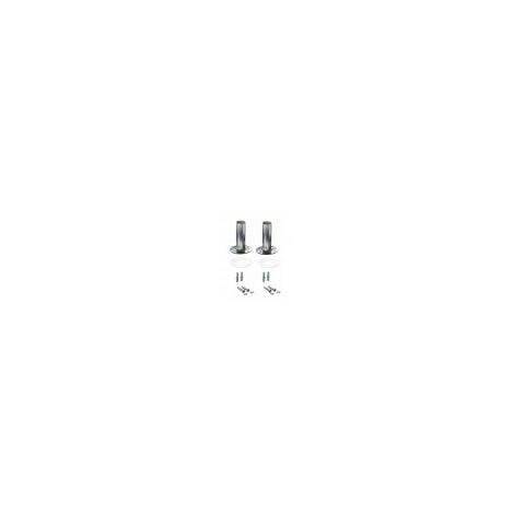 Duo-Pack Anclaje Pletina para escaleras de piscinas. D.40mm. Incluye juntas de goma, tacos y tornillos de sujección a suelo