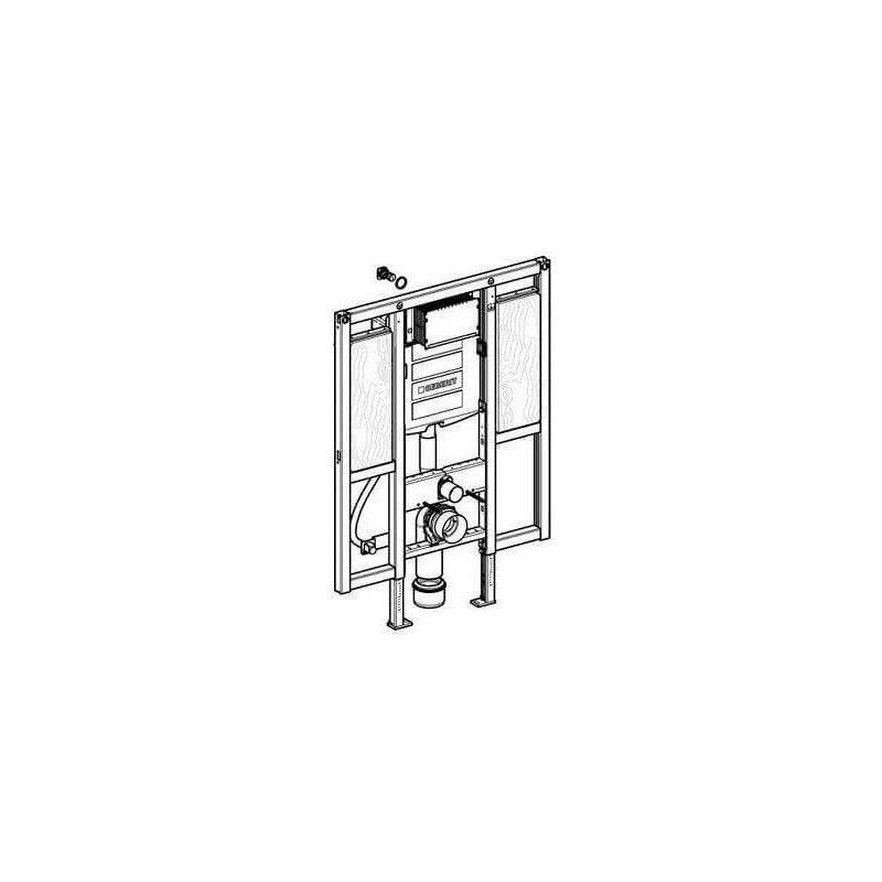 Duofix WC-Element von Geberit, 112 cm, mit SIGMA UP-Spülkasten, für ...