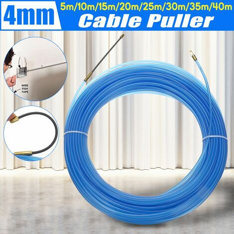 Durable 4mm Cable Puller Fiberglass Cable Puller Power Cable Puller Fish Band (Blue, 15m)