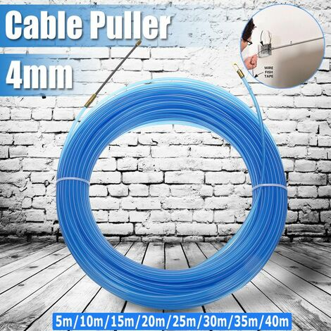 Durable 4mm Cable Puller Fiberglass Cable Puller Power Cable Puller Fish Band (Blue, 20m by 4mm)