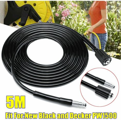 Durable 5M 16Mpa High Power Pressure Washer Hose Wash Tube For New Black And Decker PW1500 WASHED