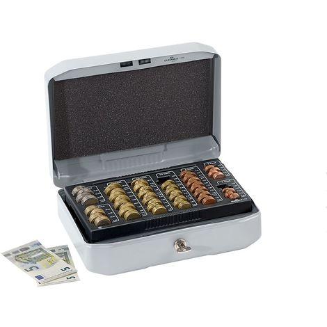 Durable Caisse à monnaie version design - aluminium - h x l x p 100 x 283 x 225 mm