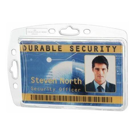 DURABLE DURABLE Namensschild 890519 85x54mm Kunststoff tr 10 St./Pack.