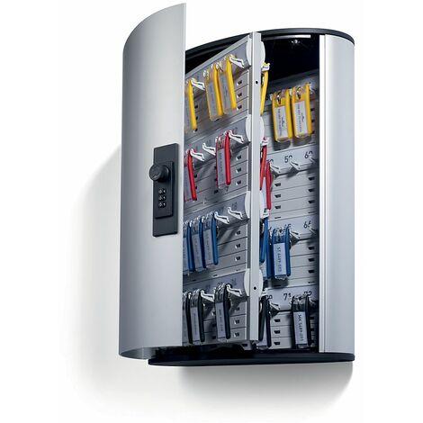 Durable Petite armoire design pour clés - avec serrure à combinaisons - h x l x p 400 x 300 x 118 mm, 72 crochets