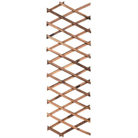 Durable Wood Fence Retractable Plant Climbing Frame Trellis Flower Decoration