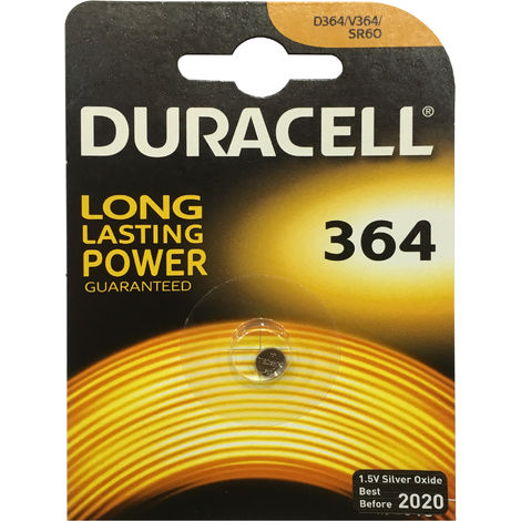 Duracell 364 1.5v SW621SW D364 V364 SR60 Silver Oxide Watch Battery Batteries