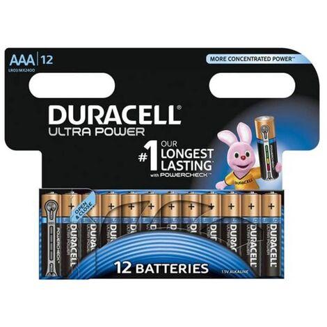 Duracell Alkaline Batteries AAA Ultra Power 12 pcs