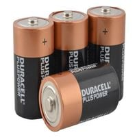 Duracell D Batteries - Multi-Pack of 4