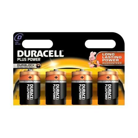 Duracell DUR019201 - Single-use battery - D - Alcaline - 1,5 V - 4 pièce(s) - Cylindrique (019201)
