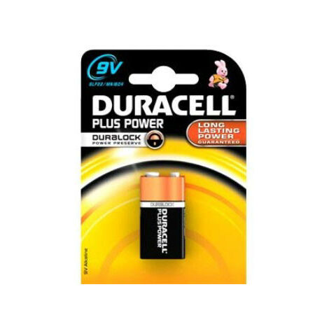 Duracell E Battery Plus Power Duralock MN1604, 9 V, 1 Piece, Black/Copper (105485)