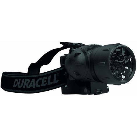 Duracell Flashlight, Explorer HEADLAMP Series Head Torch with Strap, 25 Lumen LED Light, Black Plastic Finish, Duracell Batteries Included (Pack of 1) (HDL-1)