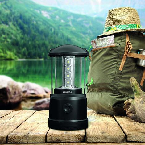 Duracell Flashlight, Explorer LANTERN Series Dimmable Lantern Torch, Very Bright 280 Lumen LED Light, Black Plastic Finish (Pack of 1) (LNT-200)