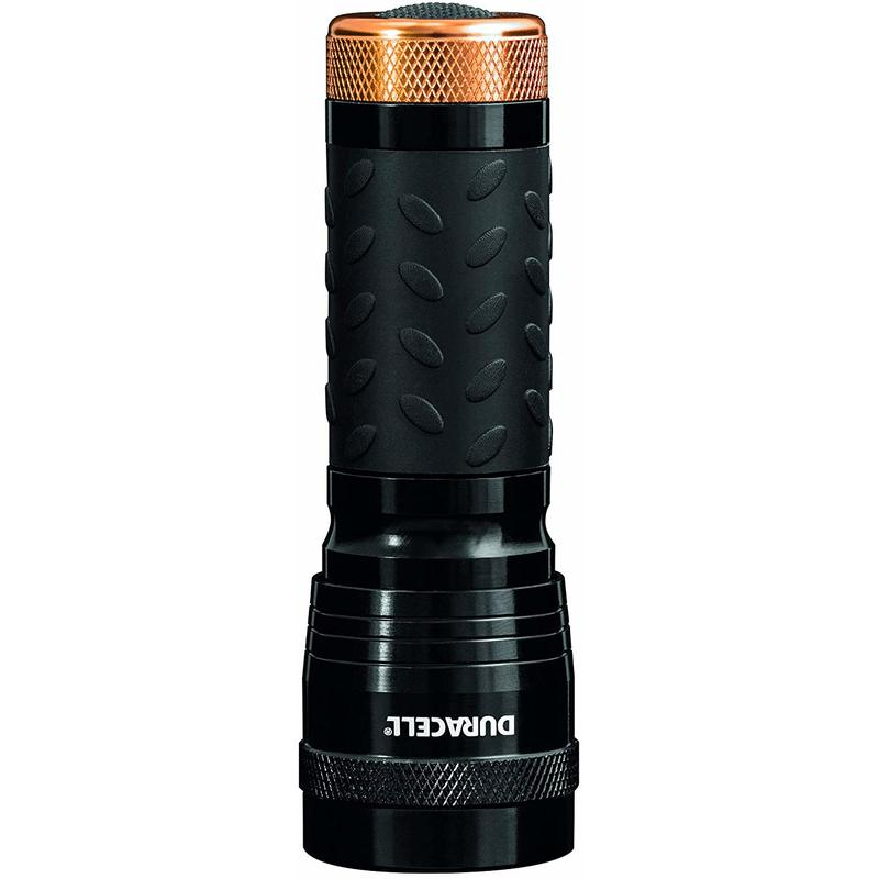 Image of Duracell Flashlight, Tough COMPACT Series Torch, Bright 63 Lumen LED Light, Black Aluminium Finish, Duracell Batteries Included (Pack of 1) (CMP-5)