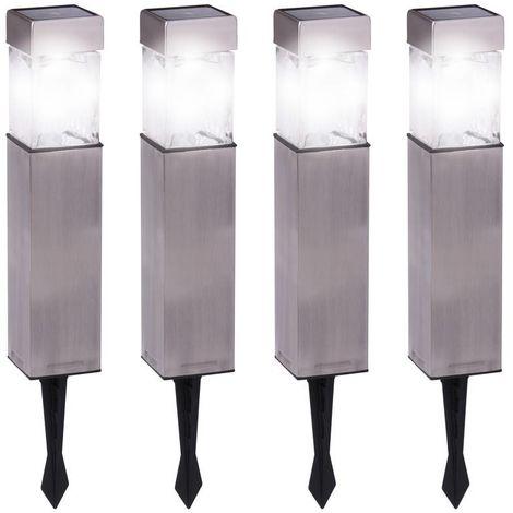 Duracell Pack de 4 lampes de jardin à énergie solaire