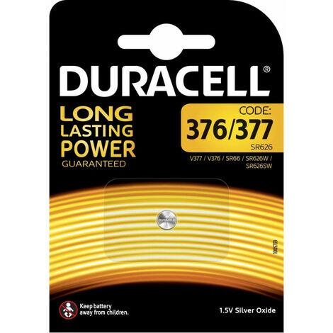 Duracell Pile bouton silver oxide-zinc SR66/377, 1 pièce en blister (062986)