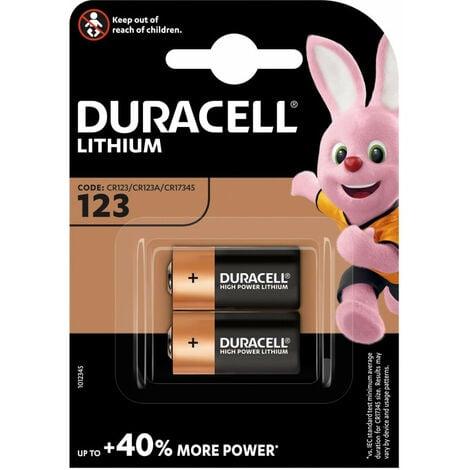 Duracell Pile ULTRA Lithium 3V, 123, blister de 2 pièces (020320)
