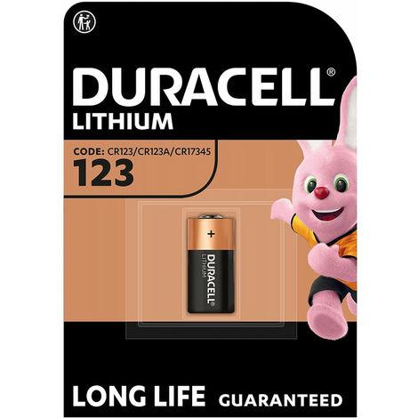Duracell Pile Ultra Lithium 3V, 123 (CR17345), 1 pièce en blister (123106)