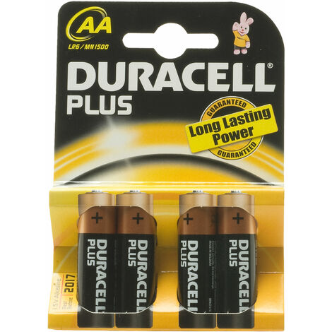 Duracell Plus 5000394038103 MN1500B AA Batteries (Pack of 4)