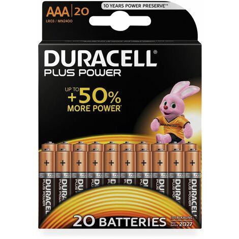 Duracell Plus Power Alkaline Batterien - 20 Stück