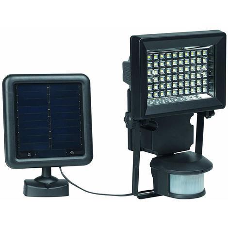 Duracell Solar, Outdoor LED Security Light with Motion Sensor, 400 Lumen LED Light, Black Metal Finish (Pack of 1)