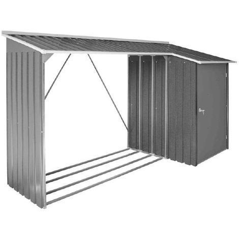 Duramax - Abri bûche et remise anthracite métal Duramax Woodstore + Store 2,82 m2 - DUWSTT62PR