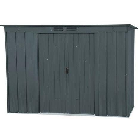 Duramax - Abri de jardin en métal gris anthracite 3,23 m2 - DUPENT84PR
