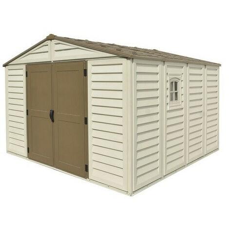 Duramax - Abri de jardin en PVC Woodstyle Premium 10,56m² - DUWS1010PR