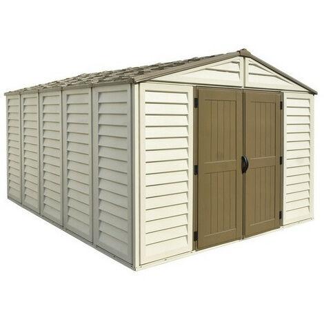 Duramax - Abri de jardin en PVC Woodstyle Premium 13,12m² - DUWS1013PR