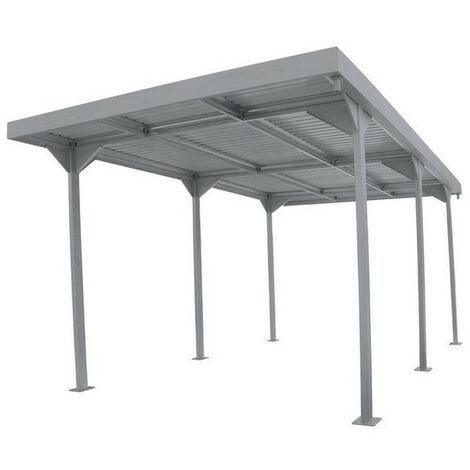 Duramax - Carport en métal gris 15,58 m² - DUCARPORT189