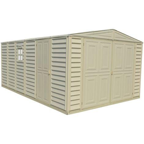 Garaje de PVC. Medidas 478 x 318 x 217 cm. Superficie: 15,25 m2.