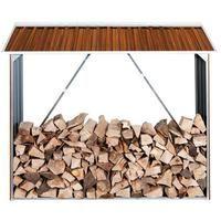 Duramax Kaminholzregal / Brennholzregal Metall Holzoptik 182x74 cm