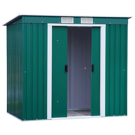 DURAMAX PENTROOF6X4 - Caseta metálica PENT ROOF 2,03x1,24 metros, color verde