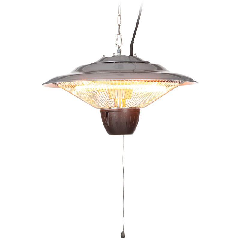 blumfeldt Hitzkopf radiateur infrarouge de plafond tubes halogènes 1500 W argent