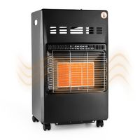 DURAMAXX Kamschatka Gas Heater Infrared Ceramic Burner 4.1 kW Black