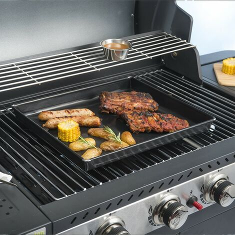 """main image of """"Durandal plat cuisson barbecue   Plaque barbecue 3 Litres   Plaque four pour barbecue   Plaque de cuisson four et barbecue - Noir - Noir"""""""