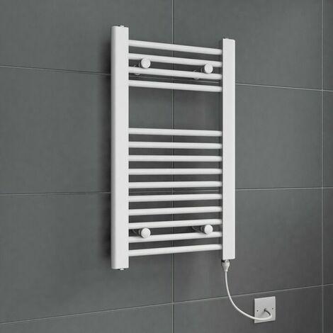 Duratherm Electric Flat White Towel Rail 700 x 400mm - 150W