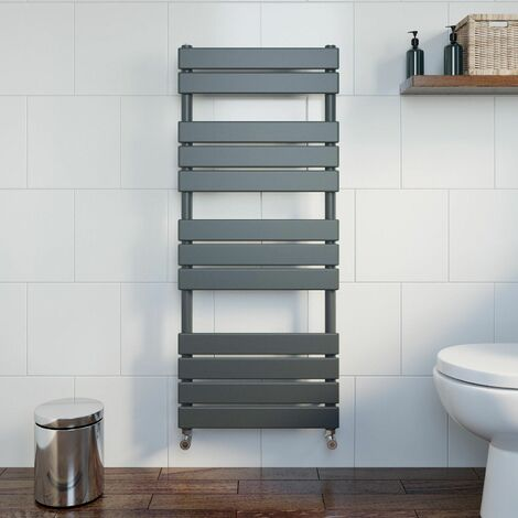DuraTherm Flat Panel Heated Towel Rail Anthracite - 1200 x 500mm