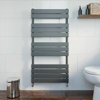 DuraTherm Flat Panel Heated Towel Rail Anthracite 1200x600mm