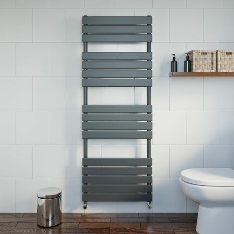 DuraTherm Flat Panel Heated Towel Rail Anthracite 1600x600mm