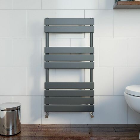 DuraTherm Flat Panel Heated Towel Rail Anthracite - 950mm x 500mm