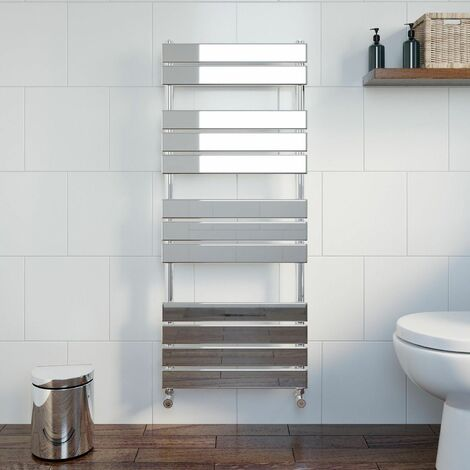 DuraTherm Flat Panel Heated Towel Rail Chrome - 1200 x 500mm