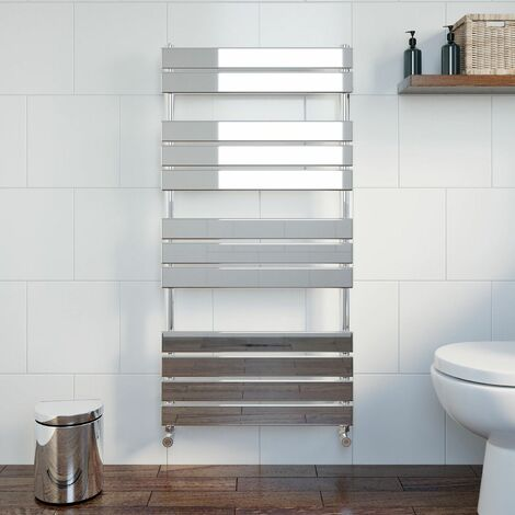 DuraTherm Flat Panel Heated Towel Rail Chrome - 1200 x 600mm