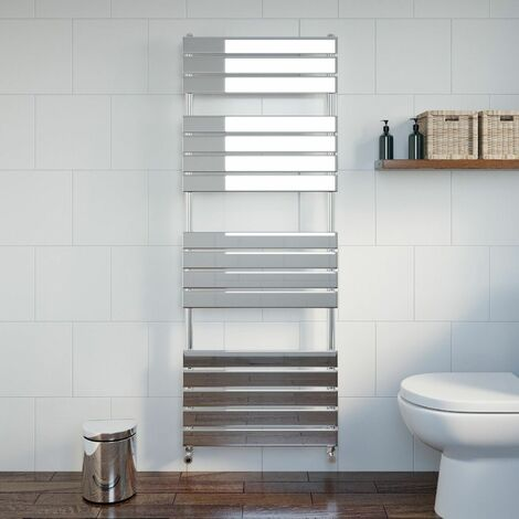DuraTherm Flat Panel Heated Towel Rail Chrome - 1600 x 600mm