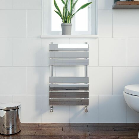 DuraTherm Flat Panel Heated Towel Rail Chrome - 650 x 400mm
