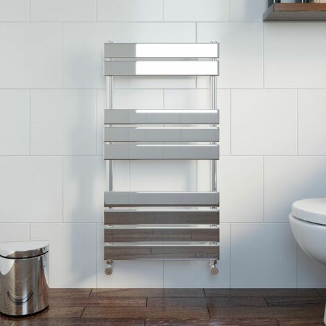 DuraTherm Flat Panel Heated Towel Rail Chrome - 950 x 500mm