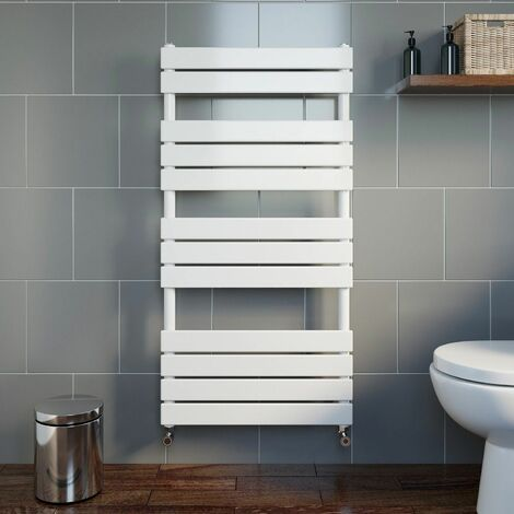 DuraTherm Flat Panel Heated Towel Rail White - 1200 x 600mm
